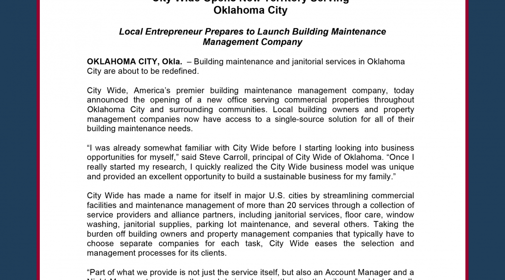 city wide opens new territory serving oklahoma city all points