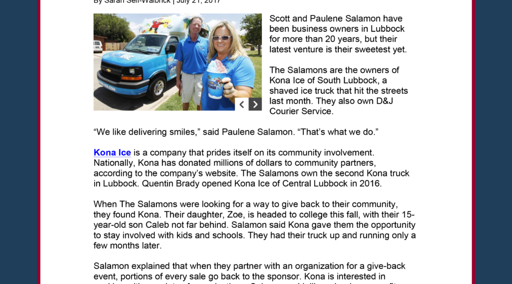 All points public relations all points public relations page 2 all points pr secures local placement for kona ice sciox Images