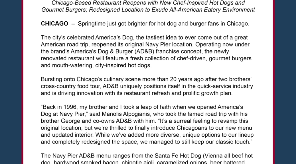 america s dog burger makes debut at navy pier